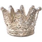TOSSDICE デザイン小物 シルバー キャンドルホルダー Glass Crown TEALITE Holder×2 015642-SI2
