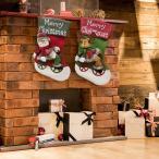 クリスマスソックス クリスマス飾り クリスマスツリー飾り クリスマス ブーツ ソックス 靴下 3D 可愛い クリスマスプレゼント 3個セット
