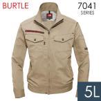 BURTLE バートル 春夏 作業服 7041-23 ストレッチドビージャケット カーキ (5L) 作業着 7041シリーズ