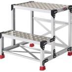 TRUSCO トラスコ中山  アルミ合金製作業台 縞鋼板 500X400X600 TSFC256 8000