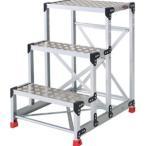 TRUSCO トラスコ中山  アルミ合金製作業台 縞鋼板 600X400X900 TSFC369 8000