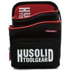 ツールバッグ HUSOLID HT-010 ファスナーポケット付き レッド