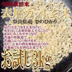 ロウ層カット玄米 殺菌殺虫剤不使用 特別栽培 7割有機 玄米 ひのひかり 3kg 奈良県産 30年産 ヒノヒカリ みどりちゃんちのお米
