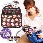 【訳ありB品】  リュックインバッグ ミニ LuLu&berry フック付き ar-FINRU-Bm メール便送料無料