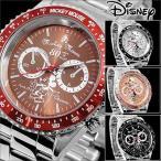 腕時計 Disney ディズニー ミッキー マウス 回転ベゼル クロノグラフ調 スワロフスキー ミッキー生誕80周年記念回転ベゼル腕時計 (fa-950271)