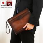 【送料無料】[特典付] MARCEL ORIVIER 合皮 セカンドバッグ ポーチ 29cm 日本製 豊岡 国産 かばん 豊岡製 鞄 メンズ マルセルオリビエ 25350 (hi-25350)