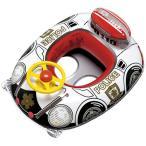ベビーウキワ 浮き輪 ベビー 乳幼児 子供 用 ベビーボート ハンドル付 スーパーポリス MHR-460 (ig-0327)