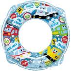 ショッピングうきわ 送料無料 うきわ 浮輪 子供 こども 男の子 女の子 浮き輪 くるくるくるま ウキワ 両面プリント 50cm RGR-350 (ig-0183m)