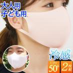 マスク 冷感 夏用 エアロクール 2枚セット 洗える 夏のマスク 冷感素材 小さめ 子供用 大人用 メンズ レディース キッズマスク lb-mask08m メール便送料無料