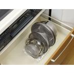 ボウル ざる 収納 スタンド ザル 仕切り 調節可能 台所 キッチン キッチン用品 流し台 流し下 引き出し 整理 すべりどめ付き 収納スタンド sn-BZS