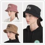 STUSSY バケットハット ビックロゴ BIG LOGO CANVAS BUCKET HAT ローズ ROSE キャンバス 帽子