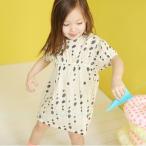 BIENABIEN TONTONワンピース(クリーム) 韓国子供服 女の子 80cm 90cm 100cm 110cm