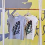select by MA feather半袖Tシャツ 韓国子供服 半袖 女の子 男の子 Tシャツ ガールズ ボーイズ 90cm 100cm 110cm 120cm