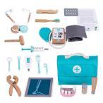 お医者さんごっこ お医者さんセットおもちゃ 20点セット 木製おもちゃ 知育玩具 子供用(薬袋付け)【海外出荷】