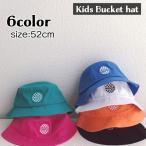 帽子 バケットハット 子供用 キッズ 男の子 女の子 ワッペン付き 単色 シンプル ぼうし 日よけ 日差し除け 紫外線対策 ツバ付き おしゃれ かわい