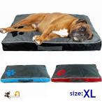 ペット用 大型犬用 クッション スクエアベッド マット 持ち手つき XLサイズ シンプル ツートンカラー バイカラー 座布団 ソファー 長方形 犬用品