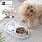 給水器 フードボウル 500ml 自動給水 ウォーターボトル えさ皿 餌皿 餌入れ ペット用品 犬用品 猫用品 シンプル 可愛い