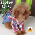 ペットウエア ペット用シャツ ドッグウエア ペット服 犬服 腰巻き 長袖 チェック スカート 犬 イヌ 猫 かわいい おしゃれ