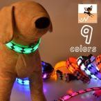 犬用 首輪 犬 光る 光 LED ドック 発光 夜間 暗闇 シ