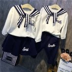 セットアップ 上下セット カットソー スカート セーラー ミニスカート ズボン 2点セット ツーピース 子供服 こども服 ガールズ 女の子 ボーイズ