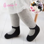 タイツ 裏起毛 レッグウェア キッズ ベビー 女の子 子供 赤ちゃん 重ね履き風 リボン シンプル おしゃれ かわいい 防寒対策