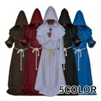 修道士修道僧牧師神父司祭プリーストフード付きローブハロウィンHalloweenコスプレコスチューム変装仮装男女兼用メンズ