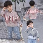 長袖シャツ シャツ ボタンシャツ トップス ベビー キッズ ボタンシャツ カジュアル 男の子 女の子 子供服 青 赤 可愛い かっこいい おしゃれ 9