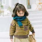 セーター キッズ トップス ラウンドネック ハイネック ボーダー 長袖セーター ブラック ブルー ブラウン お出かけ 暖かい 女の子 男の子 かわいい