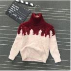 セーター キッズ 子供用 トップス 秋冬 長袖 起毛 タートルネック ハイネック シャギーニット ピンク あったか 可愛い ふんわり 防寒
