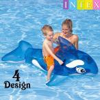 INTEX シャチフロート 浮き具 浮き輪 ビーチフロート 浮輪 取っ手付き 子供用 幼児用 サメ ワニ イルカ イヌ うきわ ウキワ 夏 プール 海