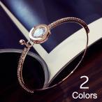 ブレスレット バングル ピンクゴールド シルバー ラインストーン アクセサリー デザイン レディース 女性用 おしゃれ かわいい 綺麗 ワンポイント