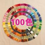刺繍糸 100色セット 刺しゅう糸 25番糸 25 約8m 6本綴り DIY 刺繍用糸 裁...