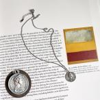 ネックレス ペンダント レディース 女性用 アクセサリー シルバー コイン 硬貨 丸 肖像画 おしゃれ 上品 ギフト プレゼント