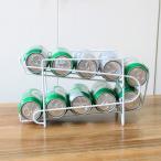 収納ラック 缶ビール 缶ジュース ディスペンサー ホームキッチン用品 保存 保管 ストッカー 冷蔵庫 庫内収納 整理 コンパクト