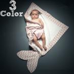 ベビーバスローブ おくるみ バスタオル 寝袋 赤ちゃん用 波模様 魚型 フィッシュデザイン 新生児 女の子 男の子 女児 男児 子供 こども 子ども