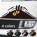 カーステッカー 車用ステッカー ボディステッカー デカール シール 反射 カーアクセサリー 目玉 目 山 個性的 装飾 デコレーション 外装 カー用品