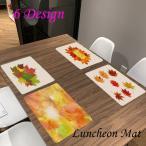 ランチョンマット プレイスマット テーブルマット テーブルランナー 布 長方形 キッチンマット 紅葉 おしゃれ ナチュラル 雑貨 キッチン