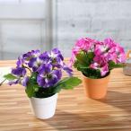 Yahoo!おとりよせ.com人工フラワー 造花 フェイクフラワー 花 鉢花 パンジー インテリア 装飾 室内 卓上 かわいい 母の日 贈り物 プレゼント