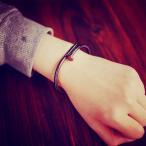モダンアートな釘 くぎ クギ チタン ブレスレット ゴールド バングル ネイル nail design bracelet