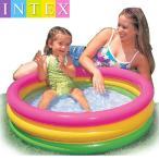 INTEX 家庭用プール ビニールプール 小型プール 円形 サークル 丸型 3気室 3層 子供用 夏 プール 水遊び 水浴び ガーデンプール エアープ
