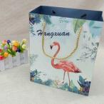 紙袋 3枚セット 手提げ袋 ギフト用袋 フラミンゴ 自然 動物 おしゃれ お洒落 かわいい 可愛い プレゼント用 誕生日 記念日