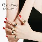 指輪 リング アルファベット イニシャル ゴールド シンプル おしゃれ 太い レディース 女性 アクセサリー 小物 プレゼント 記念 ファッション小物
