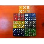 サイコロ ダイス さいころ 6面 ドットダイス クリア 半透明 16mm 16ミリ 立方体 四角形 真四角 ボードゲーム テーブルボードゲーム 双六