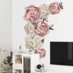 ウォールステッカー ウォールシール シール式 花 バラ グリーン 植物 癒し 自然 壁シール 壁紙シール 壁面装飾 壁装飾 室内装飾 インテリア