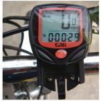 サイクルコンピューター サイクルメーター 自転車スピードメーター 速度 走行距離 走行時間 サイクリング 有線タイプ