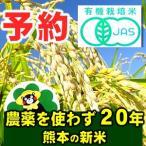 【平成28年度 新米 熊本県産】 予約受付中 白米5kg 農薬未使用 有機JAS米 【送料無料】