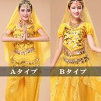 ショッピングトップス ベリーダンス衣装 トップス イエロー 黄色 チョリ ミカドレス cy201-チョリ-yellow