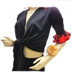 フラメンコ衣装(スペイン製)ボレロ トップス 黒×赤地に黒水玉 ダンス衣装 社交 ミカドレス sty3-no1