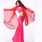 ベリーダンス ベール シフォン  軽やか素材  アラビアン アクセサリー ジプシー 民族衣装 ミカドレス cy120-red