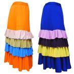 サンバ ルンバ 衣装 フラメンコ衣装 スカート ダンス衣装 社交ダンス ラテンダンス ジャズダンス ヒップホップ ミカドレス f53-2